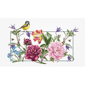 Набор для вышивки крестом Luca-S Весенние цветы BA2359