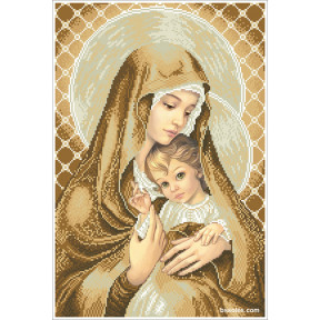 Набор для вышивания бисером БС Солес Мадонна с ребенком (покорность) МДП