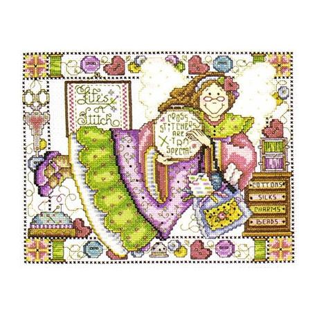 Набор для вышивания Design Works 2704 Stitching Angel фото