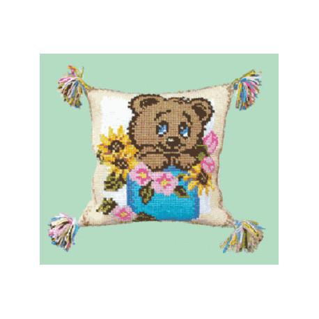 Набор для вышивки подушки Чарівна Мить РТ-104 Медвежонок фото