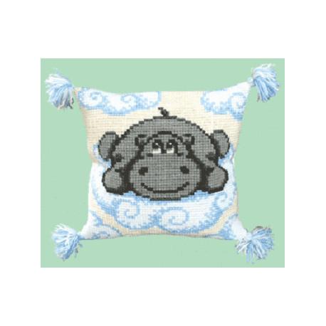 Набор для вышивки подушки Чарівна Мить РТ-106 Бегемотик фото