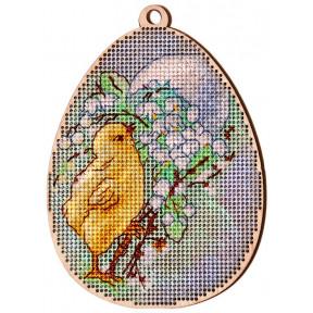 Набор для вышивки крестом Alisena Пасхальная -цыплёнок и ландыши – с подвеской 5505-Б