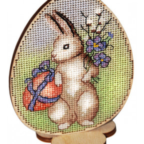 Набор для вышивки крестом Alisena Пасхальная -цыплёнок и ландыши – на подставке 5505-А