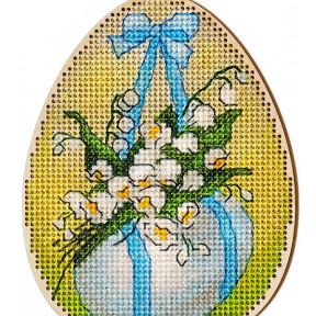 Набор для вышивки крестом Alisena Пасхальная -подснежники – с подвеской 5507-Б