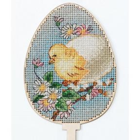 Набор для вышивки крестом Alisena Пасхальная -цыпленок– топер 5510-В