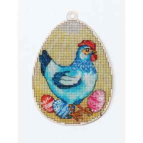 Набор для вышивки крестом Alisena Пасхальная -цыпленок – с подвеской 5511-Б