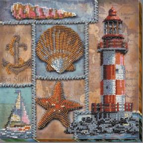 """Набор для вышивки бисером на холсте Абрис Арт """"Про моря и океаны"""" АМВ-002"""