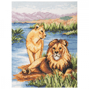 Набор для вышивания Anchor Lions PCE964