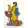 Набор для вышивания Design Works 2710 Golden Geisha фото