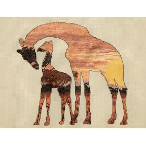 Набор для вышивания Anchor MAIA Giraffe Silhouette 05042