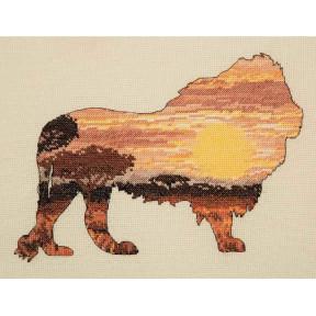 Набор для вышивания Anchor MAIA Lion Silhouette 05041