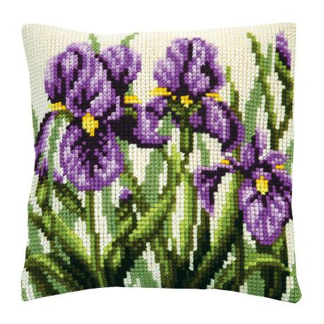 Набор для вышивки подушки Чарівна Мить РТ-158 Ирисы фото