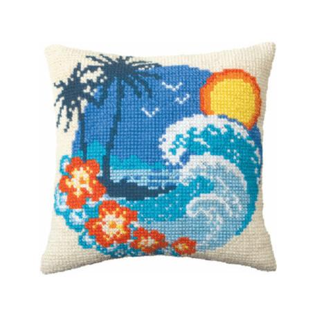 Набор для вышивки подушки Чарівна Мить РТ-164 Райский остров
