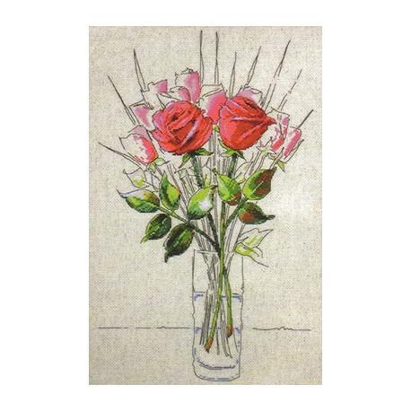 Набор для вышивания Design Works 2712 Sketchbook Roses фото