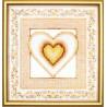 Набор для вышивки крестом Чарівна Мить СТ-22 Коричневое сердце