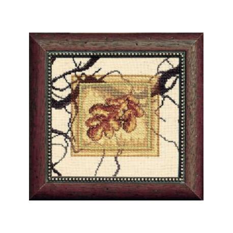 Набор для вышивки крестом Чарівна Мить СТ-24 Дубовый лист фото