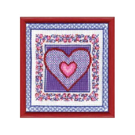 Набор для вышивки крестом Чарівна Мить СТ-25 Сиреневое сердце