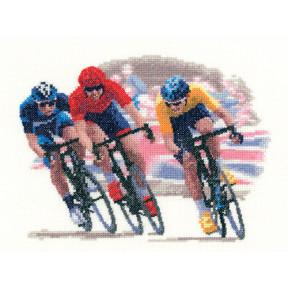 Набор для вышивания крестом Heritage Crafts Cycle Race H1214