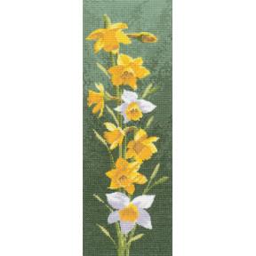 Набор для вышивания крестом Heritage Crafts Daffodil H469