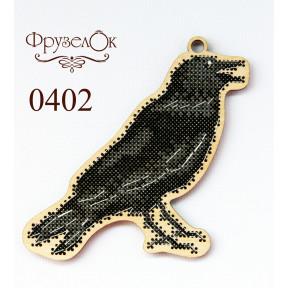 """Набор для вышивки крестом на деревянной основе ФрузелОк """"Ворон"""" 0402"""