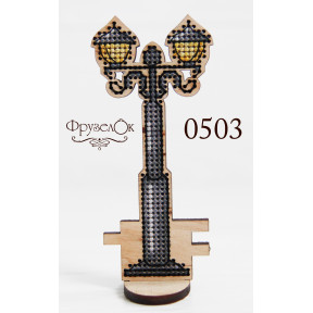 """Набор для вышивки крестом на деревянной основе ФрузелОк """"Фонарь"""" 0503"""