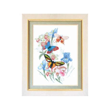 Набор для вышивки крестом Чарівна Мить М-48 Бабочки фото