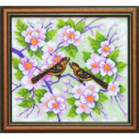 Набор для вышивки крестом Чарівна Мить СТ-12 Птички на яблоне