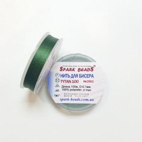 Бисерная нить TYTAN темно-зеленая 100м ,2592