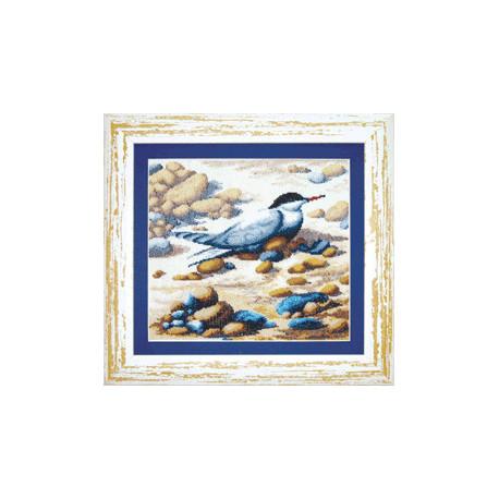 Набор для вышивки крестом Чарівна Мить СТ-30 Птичка на пляже