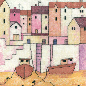 Набор для вышивания крестом Heritage Crafts Harbour Wall H1267