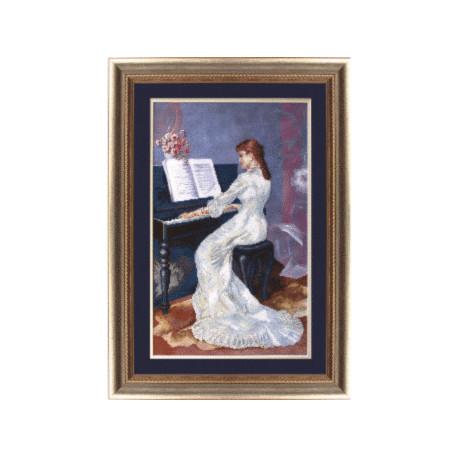 Набор для вышивки крестом Чарівна Мить М-40 Пианистка фото