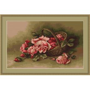 Набор для вышивки крестом Luca-S  Корзина с розами B483