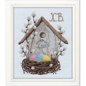 Набор для вышивки крестом Овен Пасхальная композиция 1181