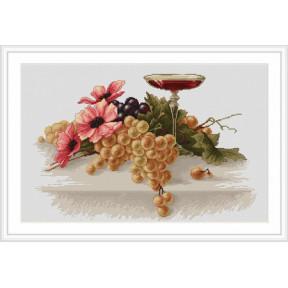 Набор для вышивки крестом Luca-S  Цветы и виноград B214