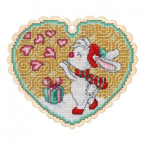 Набор для вышивки крестом Alisena 5546 Медвежонок с букетом