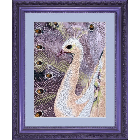 Набор для вышивания бисером Butterfly 507 Белый павлин фото