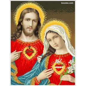 """Набор для вышивания бисером БС Солес """"Открытые сердца Иисуса и Марии"""" ВСІМ"""