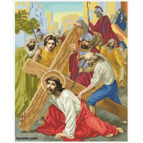 """Набор для вышивания бисером БС Солес """"Иисус падает первый раз под тяжестью креста"""" ХД-03"""