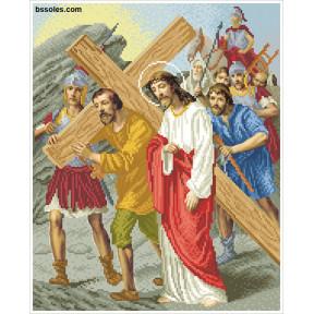 """Набор для вышивания бисером БС Солес """"Иисус встречает свою Матерь"""" ХД-04"""