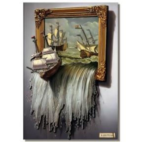 """Картина из бумаги Папертоль """"Море в картине"""" РТ150020Б"""