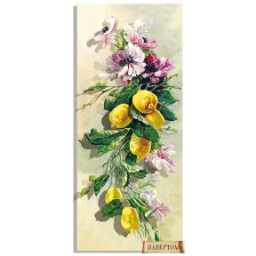 """Картина из бумаги Папертоль """"Анемоны и лимоны"""" РТ150199"""