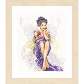 "Набор для вышивания Lanarte Purple butterfly girl ""Девушка - фиолетовая бабочка"" PN-0150005"