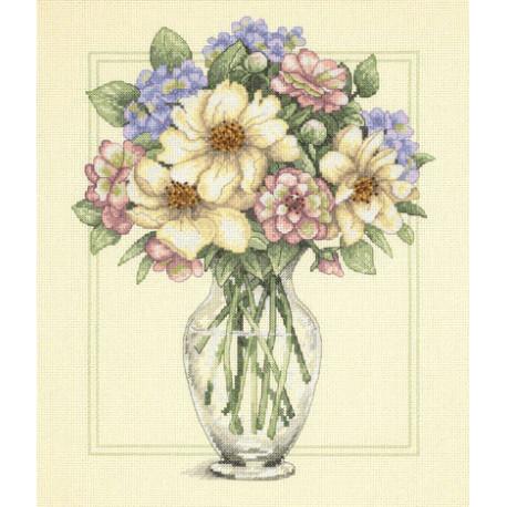 Набор для вышивания Dimensions 35228 Flowers in Tall Vase фото