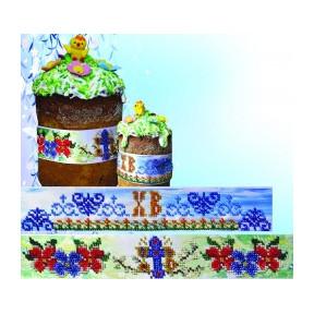 Набор для вышивания Картины Бисером Р-054 Пасхальные ленты