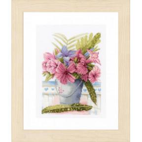 """Набор для вышивания Lanarte Flowers in a bucket """"Букет цветов в ведерке"""" PN-0154327"""