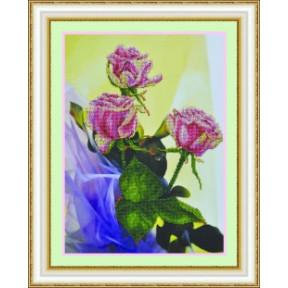 Набор для вышивания Картины Бисером Р-058 Розовый букет