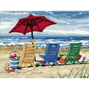 Набор для вышивания Dimensions 20022 Beach Chair Trio фото
