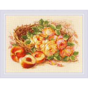 Набор для вышивания крестом Риолис Сочный персик 1827