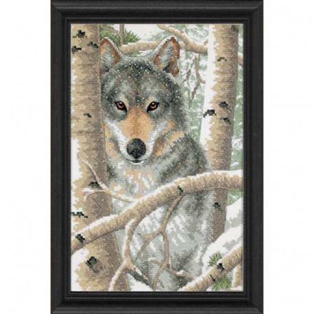 Набор для вышивания Dimensions 03228 Wintry Wolf фото