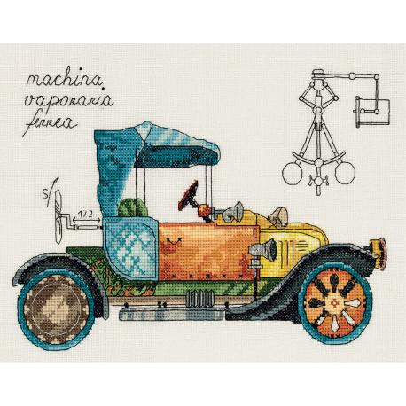 Набор для вышивки крестом Panna М-7061 Машина механическая